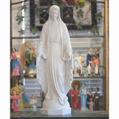 "31"" White Lady of Peace Statue"