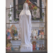 "39"" White Italian Lady of Lourdes Statue"