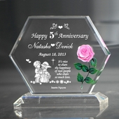 Aniversary plaque w. rose