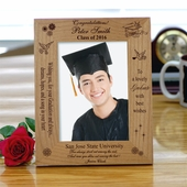 'Best Wishes' Personalized Graduation Photo Frame