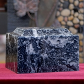 Cultured marble urns