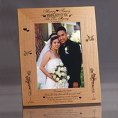 """Dreams"" Personalized Wooden Wedding Frame"