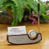 Goft Business Holder w. Pen and Clock