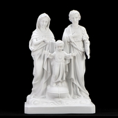 Italian White Holy Family Statue
