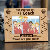 Personalized '#1 Basketball Coach' Photo Frame