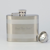 Personalized 5oz Hip Flask w. Funnel
