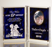 Personalized Anniversary Photo Plaque