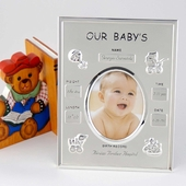 Personalized Baby Birth Record Photo Frame