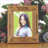 "Personalized ""Birthday for Her"" Wooden Photo Frame"