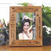 Personalized Birthday Wooden Picture Frame  FBD404