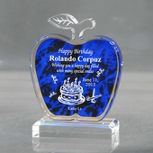 Personalized Blue Apple Birthday Acrylic