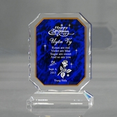 Personalized Blue Birthday Keepsake