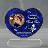Personalized Blue Heart Birthday Acrylic
