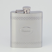 Personalized Borders Hip Flask
