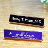 Personalized Brass Name Plate with Metal Holder