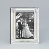 Personalized Bride and Groom Silver Picture Frame