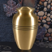 Personalized Brushed Bronze Urn