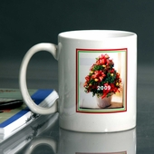 Personalized Christmas Plant Mug