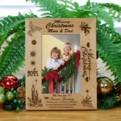 Personalized Christmas Wood Frame for Loved Ones