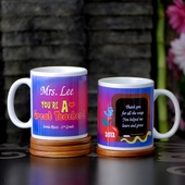 Personalized Colorful 'Great Teacher' Mug