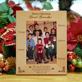 Personalized 'Family' Wooden Christmas Picture Frame