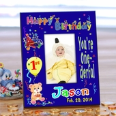 Personalized First Birthday Photo Frame