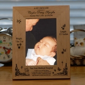 Personalized 'Gift from God' Baby Record Photo Frame