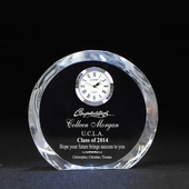 Personalized Graduation Crystal Clock