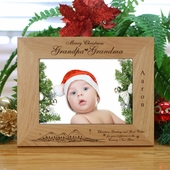 Personalized 'Grandpa-Grandma' Wood Christmas Frame