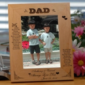 Personalized 'Guiding Light' Wood Picture Frame