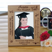 Personalized 'Happiness' Graduation Photo Frame