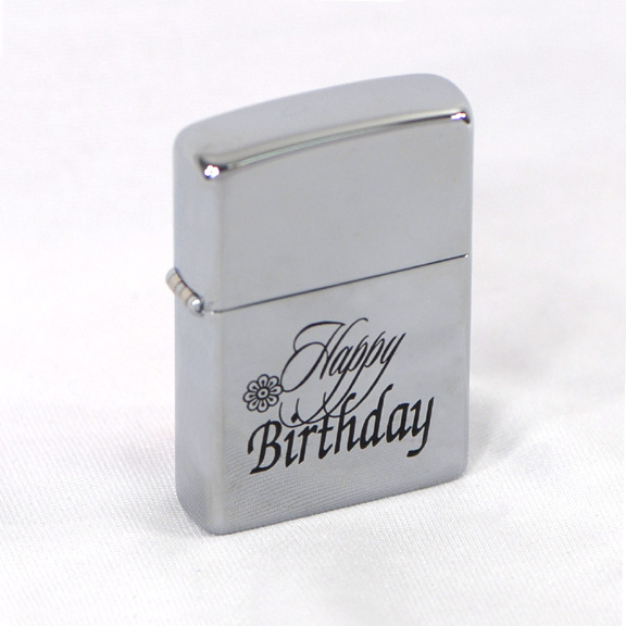 Personalized Happy Birthday Zippo Lighter