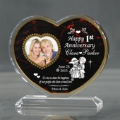 Personalized Red 'Shared Love' Heart Keepsake