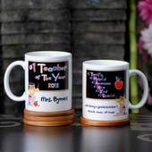 Personalized 'Number One Teacher' Mug