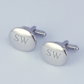 Personalized Oval Cuff Links
