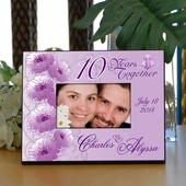Personalized Pink Anniversary Frame