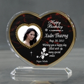 Personalized Red Heart Birthday Acrylic
