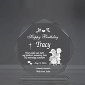 Personalized Red Octagon Birthday Keepsake