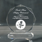 Personalized 'Happy Retirement' Octagon Keepsake