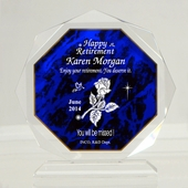 Personalized 'Enjoy Retirement' Octagon Keepsake