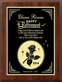 Personalized Teakwood Retirement Plaque