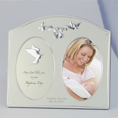 Personalized Silver Baptism Frame