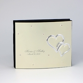 Personalized Silver Wedding Album Box