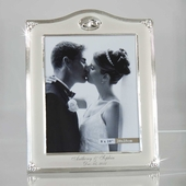 Personalized Silver Wedding Ring Photo Frame