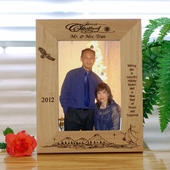 Personalized Simple Wood Christmas Frame