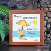 Personalized 'Sunny 'Retirement Tile Frame