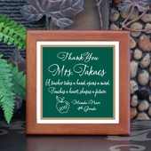 Personalized 'Teacher Touches a Heart' Keepsake Tile