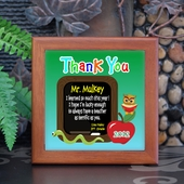 Personalized Terrific Teacher Keepsake Tile