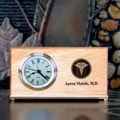 Personalized Thank You Clock with Medical Logo