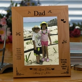 Personalized 'Thank You Dad' Wood Picture Frame